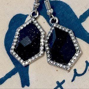 Chloe + Isabel Black Sparkle Drop Earrings